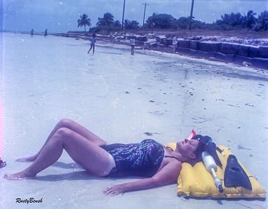 Margret sunbathingJuly82
