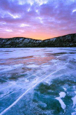 Winter Fish Lake Sunrise