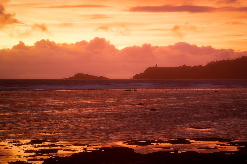 Fiery Sunset over Kilauea Lighthouse