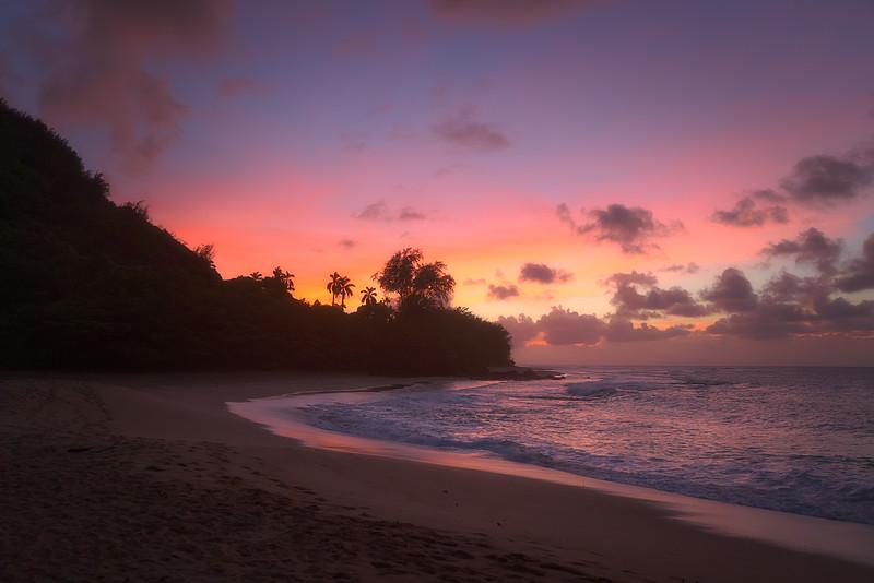 Haena Beach Sunset