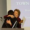 Beverly hugs the new mayor.