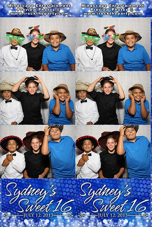 Sydney Romero's Sweet 16 - Photo Booth Pictures