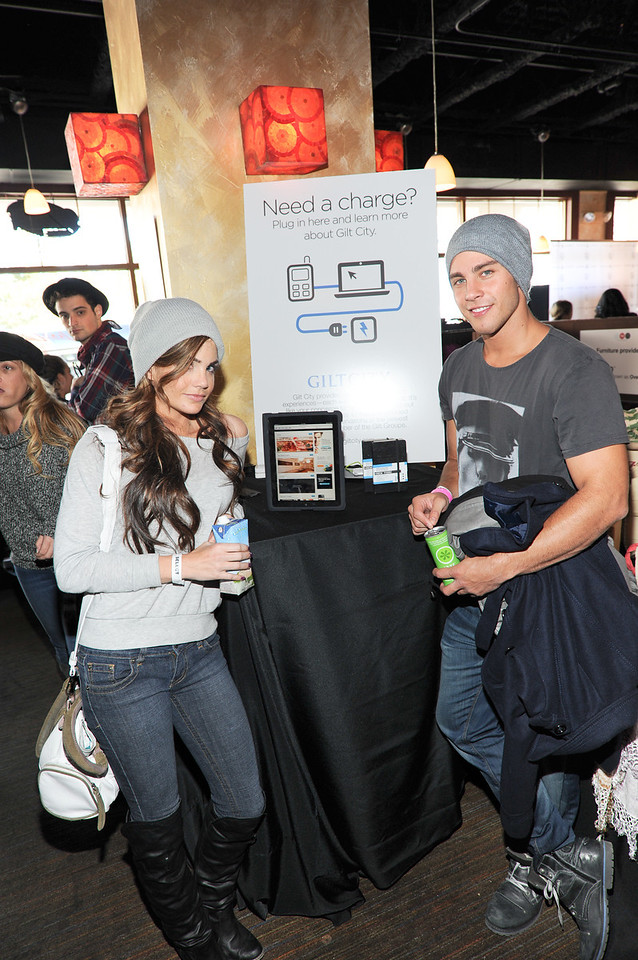 PARK CITY, UTAH - JANUARY 21: Dean Geyer and Jillian Murray Attends the TR Suites at the Gateway Center on January 21, 2011 in Park City, Utah. (Photo by Joseph Bellantoni \In House Image)
