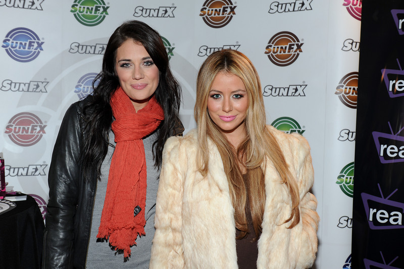 PARK CITY, UTAH - JANUARY 21: Krystal Bronson (L) and Aubrey O'Day Attends the TR Suites at the Gateway Center on January 21, 2011 in Park City, Utah. (Photo by Joseph Bellantoni \In House Image)