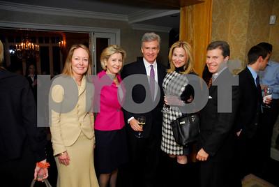 Liz Underhill,Christie Weiss,Jeff Nuechterlein,Wendy Bloch,Jeff Weiss,February 9,2011,Teach For America Book Party,Kyle Samperton