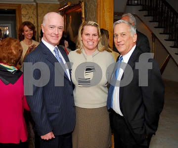 David Bradley, Cathy Merrill Williams, Walter Isaacson,February 9,2011Teach for America book party,Kyle Samperton