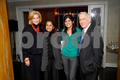 Katherine Bradley,Meena Ahamed,Lita Tandon,Walter Isaacson,February 9,2011,Teach For America book party