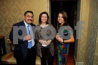Bob Hisaoka, Paula Hisaoka, Dalia Fateh, February 9,2011Teach for America book party,Kyle Samperton
