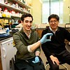 A joint program between Princeton University and Rutgers Robert Wood Johnson Medical School offers the opportunity to combine scientific research and medical training, leading to a doctor of philosophy (Ph.D.) degree at Princeton with a medical degree (M.D.) at Rutgers Robert Wood Johnson.  Tom Pisano MD-PHD Candidate and his adviser Prof. Sam Wang.
