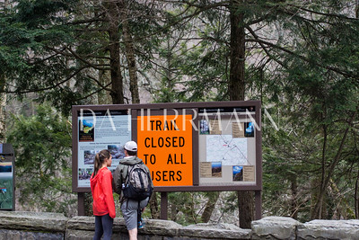 Trail to The Chimneys closed from Sandy damage...