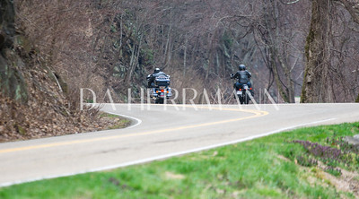 A couple from Michigan who rented Harleys.  They are heading towards Clingman's Dome, before they head south to the Tail of the Dragon, US Route 129.