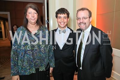 Susan Hubert, Dominic Rosskopf, Martin Rosskopf. The 2011 Joan Hisaoka Gala. Mandarin Oriental. October 22, 2011. Photo by Alfredo Flores
