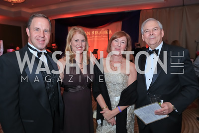 Jeff Hudson, Ginger Hudson, Anna Marie Sullivan, Tim Sullivan. The 2011 Joan Hisaoka Gala. Mandarin Oriental. October 22, 2011. Photo by Alfredo Flores