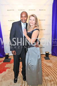 Colvil Omanwa, Jennifer Klein. The 2011 Joan Hisaoka Gala. Mandarin Oriental. October 22, 2011. Photo by Alfredo Flores