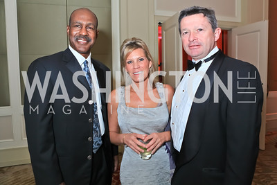 Art Monk, Lauren Peterson Fellows, Jim Powers. The 2011 Joan Hisaoka Gala. Mandarin Oriental. October 22, 2011. Photo by Alfredo Flores