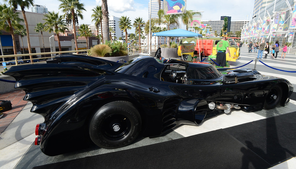 . The batmobile on display at the 5th annual Long Beach Comic Con & Horror Con, held at the Long Beach Convention Center.   Long Beach Calif., Saturday, November, 23, 2013.   (Photo by Stephen Carr / Daily Breeze)