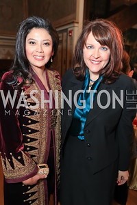 Rosa Rai Djalal, Rachel Pearson. The Ayenda Foundation's 2011 Annual Benefit Dinner Celebrating Six Years of Progress in Education Afghan Children. Mexican Cultural Institute. October 26, 2011. Photo by Alfredo Flores