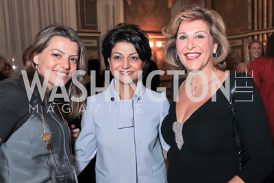 Dalia Fateh, Shamin Jawad, Luma Hakki. The Ayenda Foundation's 2011 Annual Benefit Dinner Celebrating Six Years of Progress in Education Afghan Children. Mexican Cultural Institute. October 26, 2011. Photo by Alfredo Flores