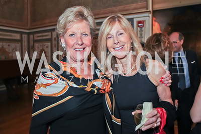 Leslie Schweitzer, Eileen West. The Ayenda Foundation's 2011 Annual Benefit Dinner Celebrating Six Years of Progress in Education Afghan Children. Mexican Cultural Institute. October 26, 2011. Photo by Alfredo Flores