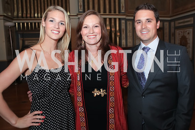 Kat Conlon, Liz Baker, Austin Bailey. The Ayenda Foundation's 2011 Annual Benefit Dinner Celebrating Six Years of Progress in Education Afghan Children. Mexican Cultural Institute. October 26, 2011. Photo by Alfredo Flores