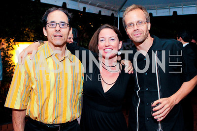 Alexander Main, Catherine Murphy, Mark Weisbrot. Photo by Alfredo Flores. The Center for Democracy in the Americas 5th Anniversary Celebration. The Stewart R. Mott House. June 20, 2011