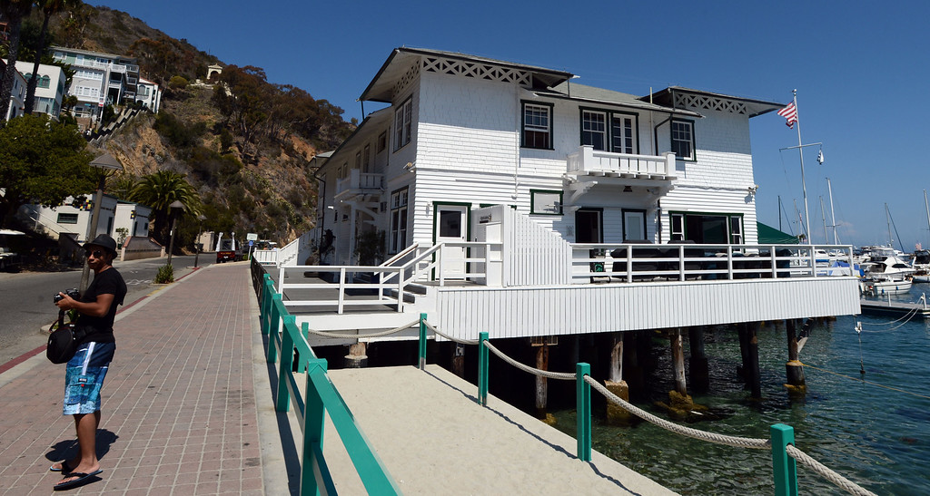 . Avalon, Calif., -- 09-04-13-  The Tuna Club in Avalon was founded by Charles Frederick Holder in 1898. The city of Avalon, on Catalina Island,  still has quaint beach homes. This year Avalon turns 100.    Stephen Carr/  Press-Telegram