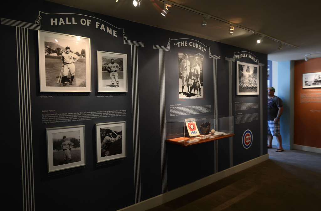 . Avalon, Calif., -- 09-04-13- A Chicago Cubs exhibition on display Inside the Catalina Island Museum at the Catalina Casino.  The museum features historic artifacts about the rich history of Catalina Island.  This year the city of Avalon turns 100.    Stephen Carr/  Press-Telegram