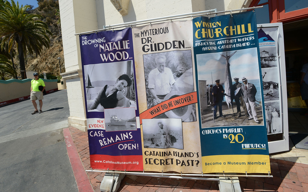 . Avalon, Calif., -- 09-04-13-  The Catalina Island Museum entrance at the Catalina Casino.  The museum features historic artifacts about the rich history of Catalina Island.  This year the city of Avalon turns 100.    Stephen Carr/  Press-Telegram