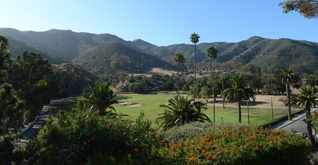 . Avalon, Calif., -- 09-04-13-  The Catalina Island Golf Course. The city of Avalon, on Catalina Island,  still has quaint beach homes. This year Avalon turns 100.    Stephen Carr/  Press-Telegram