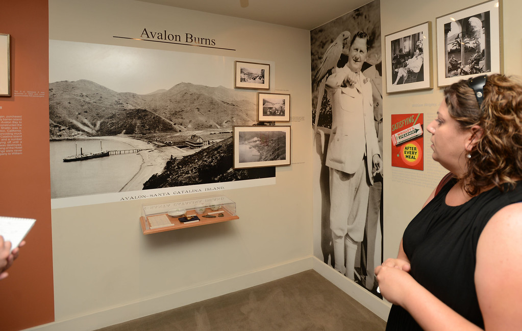 . Avalon, Calif., -- 09-04-13-  Gail Fornasiere Director of marketing at the Catalina Island Museum, inside the museum, located at the Catalina Casino.  The museum features historic artifacts about the rich history of Catalina Island.  This year the city of Avalon turns 100.    Stephen Carr/  Press-Telegram