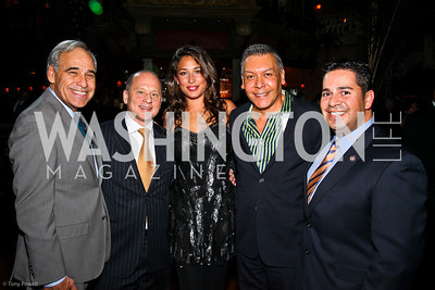 Rep. Charlie Gonzalez, Barry Gutin, Giselle Itié, Felix Sanchez, Rep. Ben Ray Luján. The Day of the Three Kings. Photo by Tony Powell. Cuba Libre. January 6, 2011