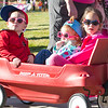 Ashleigh Fox | The Sheridan Press<br>Jackson and Kennedly Labrum andMia Germann ride along during The Link — Partners in Pink run Saturday, Oct. 20, 2018.