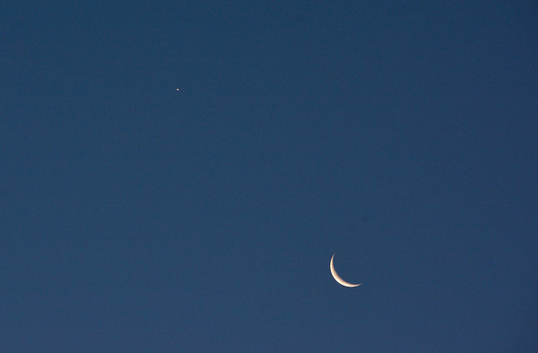The Moon and Venus in Early Morning Sky 7/20 & 21/2017