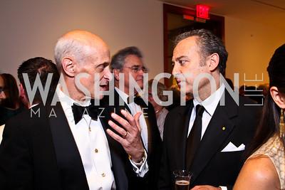 Michael Chertoff, Mexico Amb. Arturo Sarukhan. Photo by Tony Powell. Phillips Collection Gala. May 13, 2011