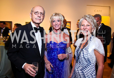 Justice Stephen Breyer, Coach Kathy Kemper, Jane Harman. Photo by Tony Powell. Phillips Collection Gala. May 13, 2011
