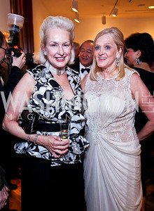 Jeannie Rutherfoord, Trish Vradenburg. Photo by Tony Powell. Phillips Collection Gala. May 13, 2011