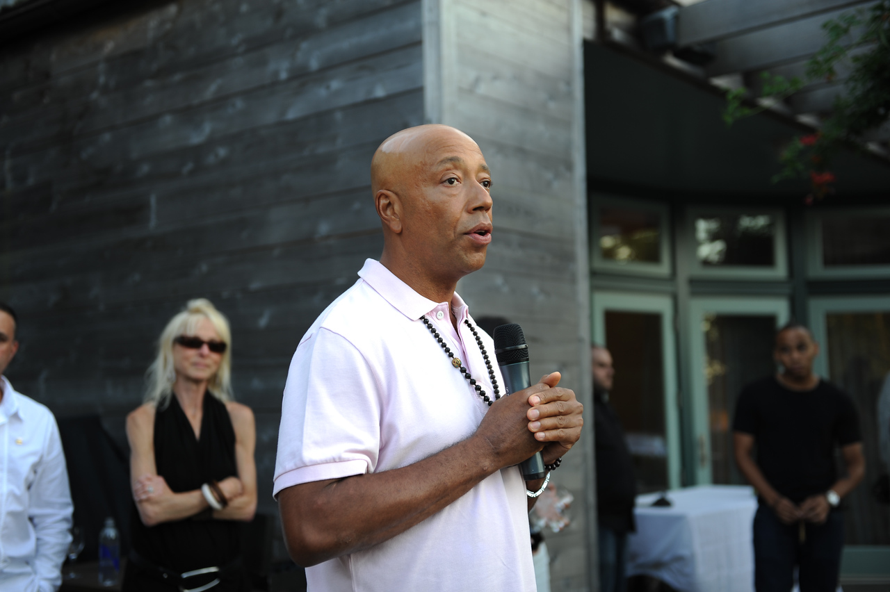Sagaponack, NY - AUGUST 07:  Russell Simmons Attends  The Red Hot Red Cross Cocktail Fundraiser, where Entertainer LL Cool J is the recipient of the American Red Cross Humanitarian  on August 7, 2010 in Sagaponack, New York. (Photo by Joseph Bellantoni/In House Image)
