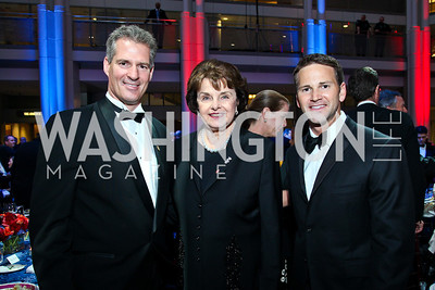 Sen. Scott Brown, Sen. Dianne Feinstein, Rep. Aaron Schock. Photo by Tony Powell. The Ronald Reagan Centennial Gala. Reagan Building. May 24, 2011