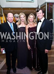 Robert and Loran Aiken, Wendy and Tom Kuhn. Photo by Tony Powell. The Ronald Reagan Centennial Gala. Reagan Building. May 24, 2011