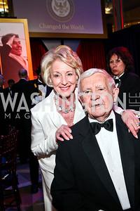 Carol and Sen. Paul Laxalt. Photo by Tony Powell. The Ronald Reagan Centennial Gala. Reagan Building. May 24, 2011