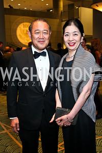 Japan Amb. Ichiro and Yoriko Fujisaki. Photo by Tony Powell. The Ronald Reagan Centennial Gala. Reagan Building. May 24, 2011