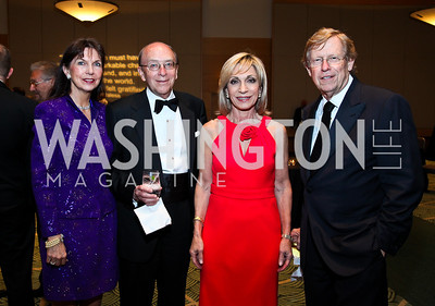 Mary Ann and David Mullins, Andrea Mitchell, Ted Olsen. Photo by Tony Powell. The Ronald Reagan Centennial Gala. Reagan Building. May 24, 2011