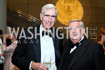 C. Boyden Gray, Fred Fielding. Photo by Tony Powell. The Ronald Reagan Centennial Gala. Reagan Building. May 24, 2011