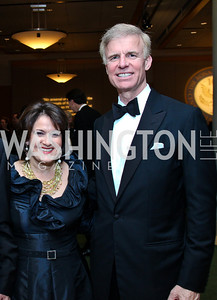 Anita McBride, The Honorable Frederick Ryan. Photo by Tony Powell. The Ronald Reagan Centennial Gala. Reagan Building. May 24, 2011