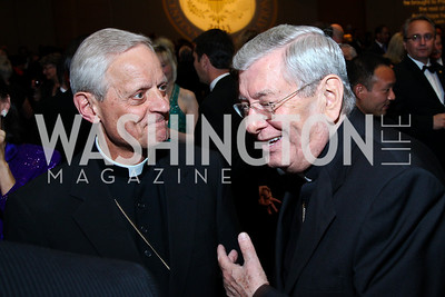 His Eminence Cardinal Donald Wuerl, Apostolic Nuncio to the United States Archbishop Pietro Sambi. Photo by Tony Powell. The Ronald Reagan Centennial Gala. Reagan Building. May 24, 2011