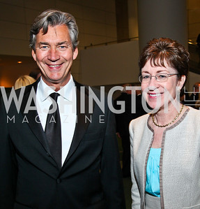 Canada Amb. Gary Doer, Sen. Susan Collins. Photo by Tony Powell. The Ronald Reagan Centennial Gala. Reagan Building. May 24, 2011