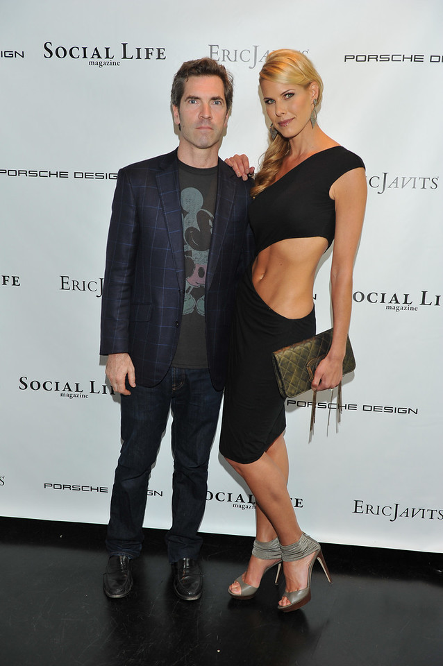 WATERMILL, NY - MAY 28:   Justin Mitchell and Beth Stern attends the social life magazine May 20111 cover launch party at The Social Life Estate on May 28, 2011 in Watermill, New York.(Photo by Joseph Bellantoni/In House Image)