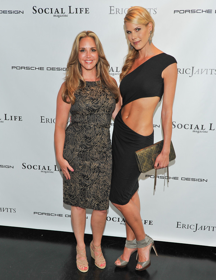 WATERMILL, NY - MAY 28:   Andrea Correale and Beth Stern attends the social life magazine May 20111 cover launch party at The Social Life Estate on May 28, 2011 in Watermill, New York(Photo by Joseph Bellantoni/In House Image)