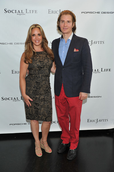 WATERMILL, NY - MAY 28:  Andrea Correale and Eric Javits attends the social life magazine May 20111 cover launch party at The Social Life Estate on May 28, 2011 in Watermill, New York.(Photo by Joseph Bellantoni/In House Image)