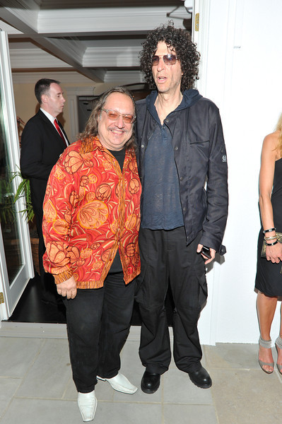 WATERMILL, NY - MAY 28:  Howard Stern and Larry Ratso Sloman attends the social life magazine May 20111 cover launch party at The Social Life Estate on May 28, 2011 in Watermill, New York.(Photo by Joseph Bellantoni/In House Image)